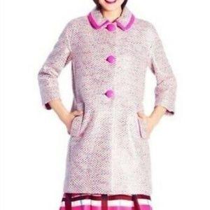 Kate Spade Tweed Coat - Pierce Coat - 8 - S - M